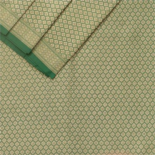Brocade Emerald Green Silk Fabric