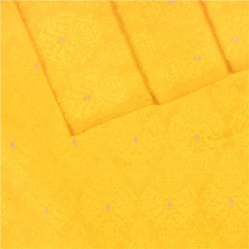 Jamevar Mustard Tanchoi Silk Fabric