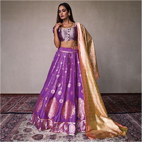 Rusnata Banarasi Handwoven Silk Lehenga