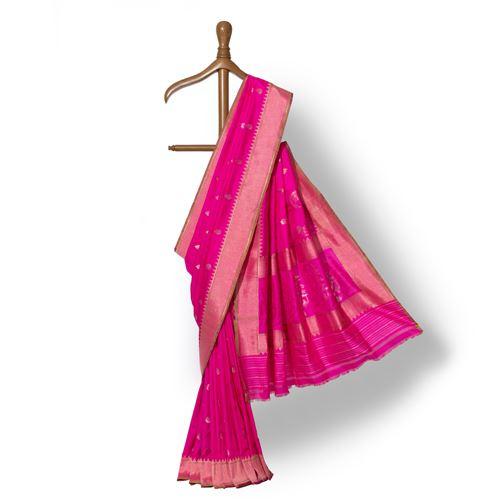 Gulaab Banarasi Handwoven Silk Saree