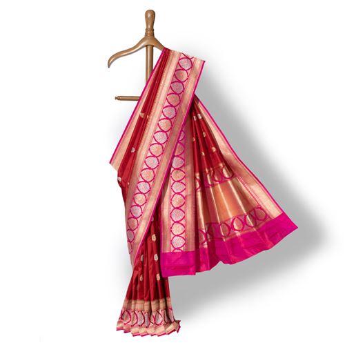 Vaishnavi Banarasi Handwoven Silk Saree