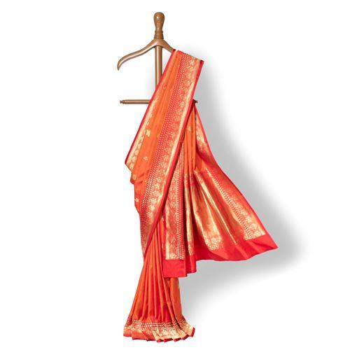 Gulabdani Banarasi Handwoven Silk Saree