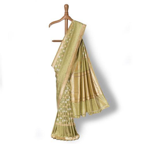 HēMÉRA Ashrafi Banarasi Handwoven Silk Saree
