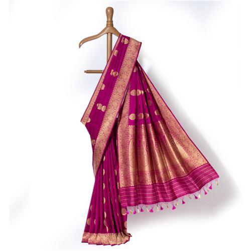 Shubhra Banarasi Handwoven Silk Saree