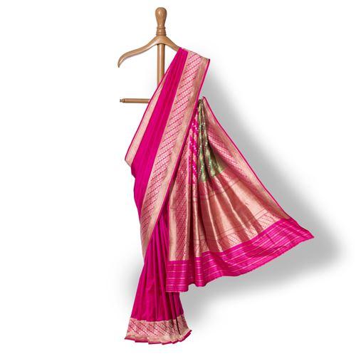 Dhanak Banarasi Handwoven Silk Saree