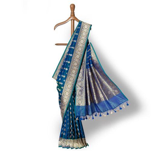 Chandrahaar Banarasi Handwoven Silk Saree