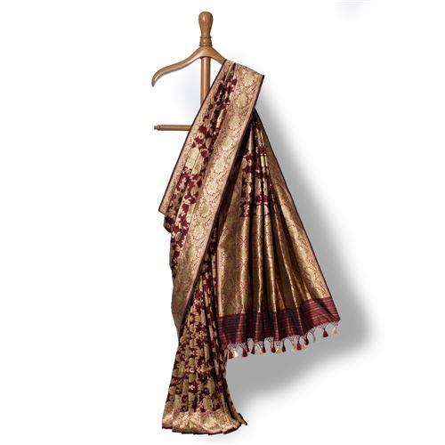 Pushpanjali Banarasi Handwoven Silk Saree