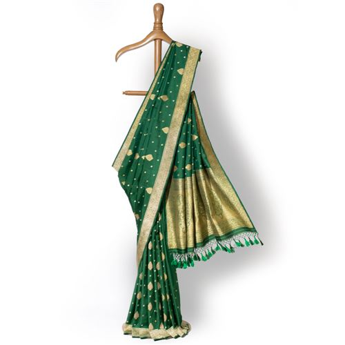 Sanober Banarasi Handwoven Gethua Silk Saree
