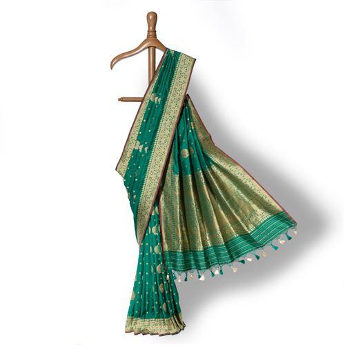 Vijayanthi Banarasi Handwoven Silk Saree