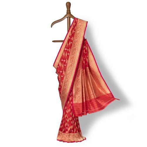 Aarna Banarasi Handwoven Silk Saree