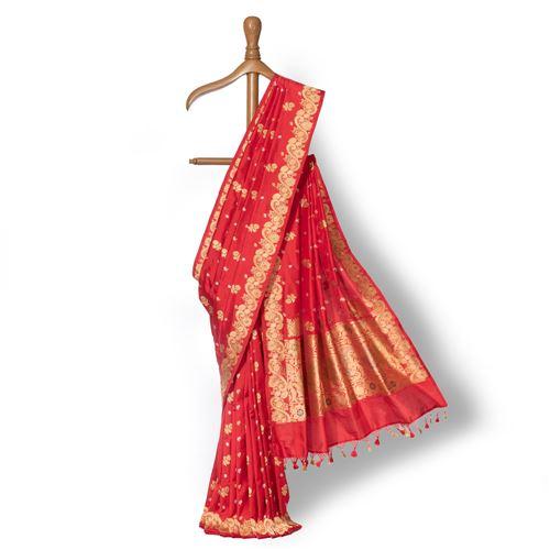 Kuhoo Banarasi Handwoven Silk Saree