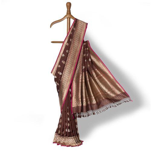 Didan Shahteer Banarasi Handwoven Silk Saree