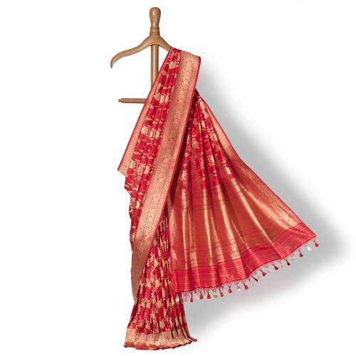 Gulon ki Jungla Banarasi Handwoven Silk Saree