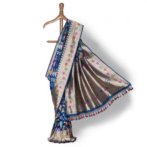 Shoubhit Banarasi Handwoven Silk Saree