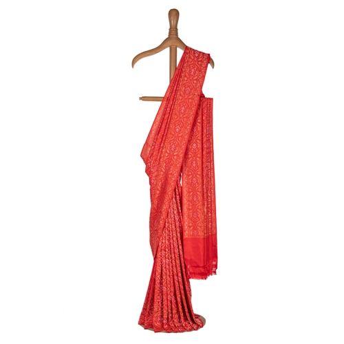 Raktambari Aada Red Real Zari Silk Saree
