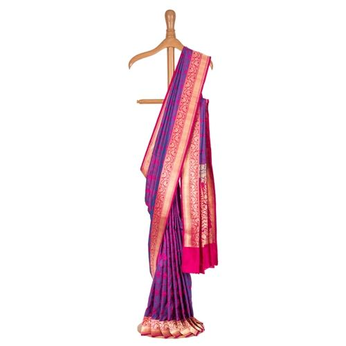 Firdaus Tanchoi Purple Silk Saree