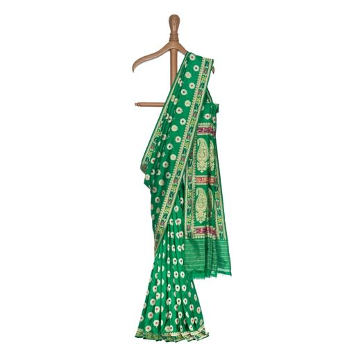 Guldavari Minakari Emerald Silk Saree