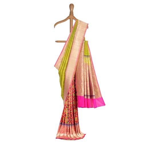 Patola Banarasi Handwoven Tussar Silk Saree