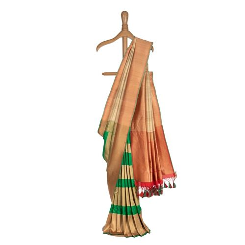 Patti Banarasi Handwoven Tussar Silk Saree