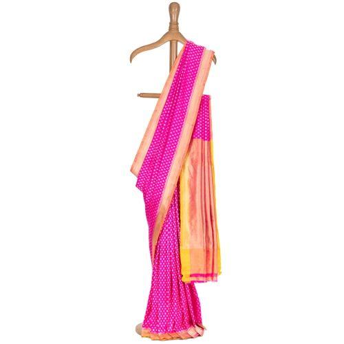 Gulshan Fuchsia Pink Silk Saree