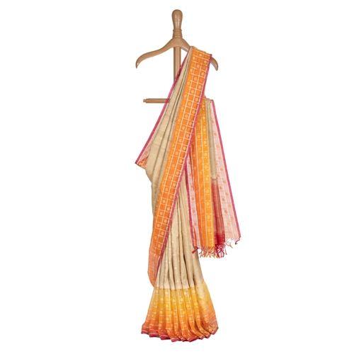 Jamdani Banarasi Handwoven Tussar Silk Saree