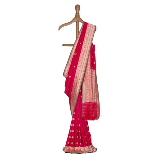 Chandani Indian Pink Silk Saree