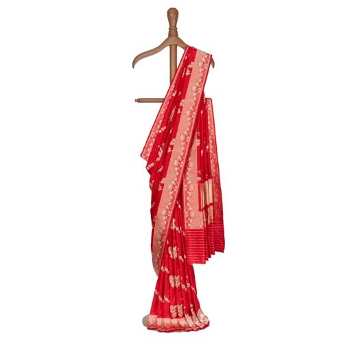 Morni Scarlet Red Silk Saree