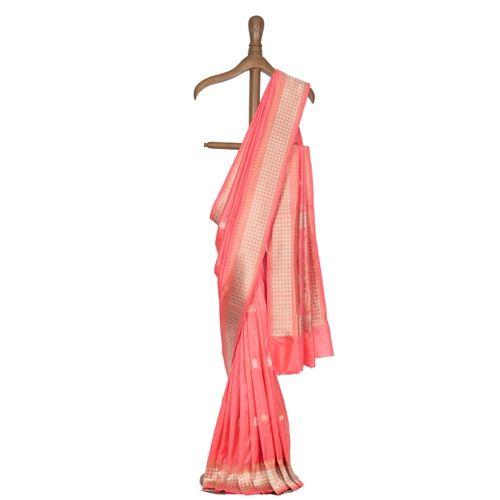 Chaudhani Coral Silk Saree