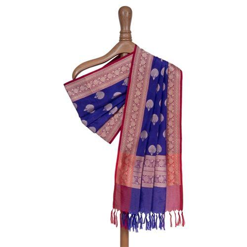 Guldavari Purple Silk Dupatta