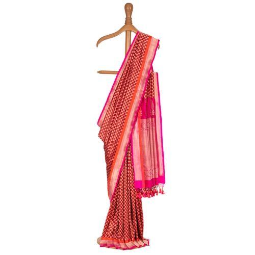 Gulaab Kali Red Silk Saree