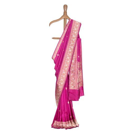 Gulshan Dark Pink Silk Saree