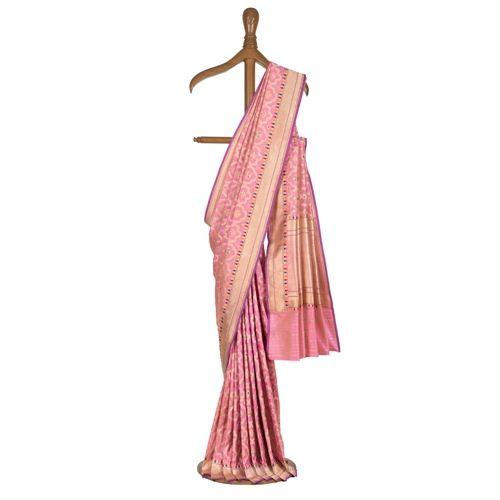 Mehraab Candy Pink Silk Saree