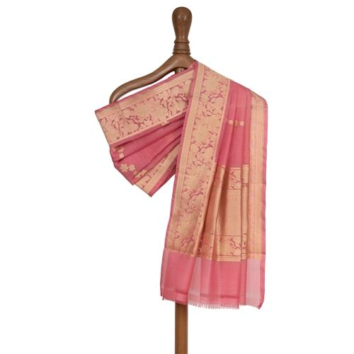 Shairi Rouge Pink Kora Silk Dupatta