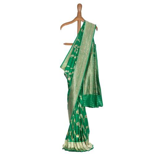Neem Jungla Silk Emerald Green Saree