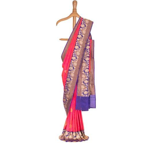 Pushp Guldavari Peony Pink Silk Saree