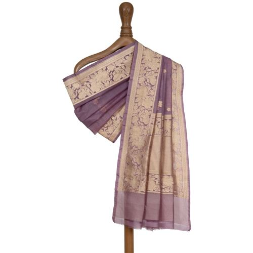 Shairi Lavender Kora Silk Dupatta