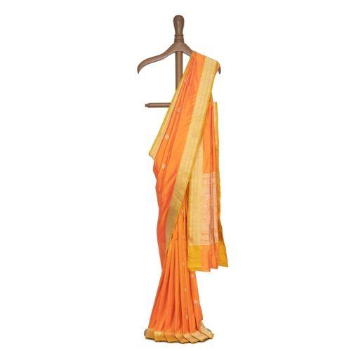 Pushp Orange Silk Saree