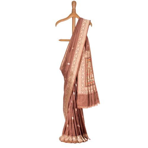 Minar Copper Silk Saree