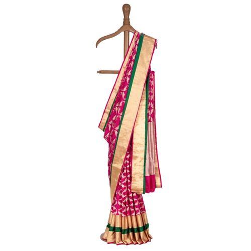 Miya Mithu Strawberry Pink Silk Saree