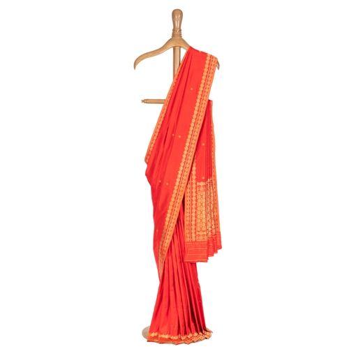 Parsiana Red Silk Saree