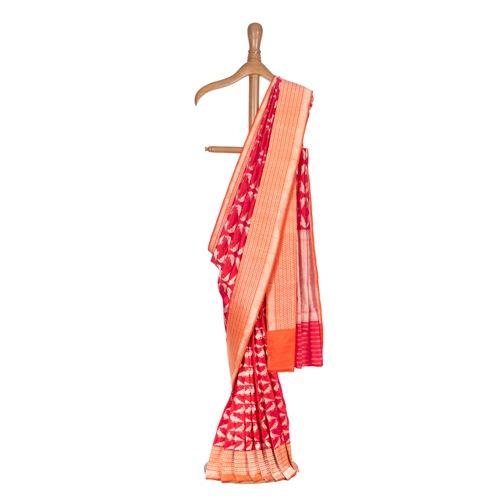 Miya Mithu Coral Pink Silk Saree