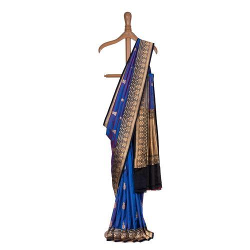Gulabdani Egyptian Blue Silk Saree
