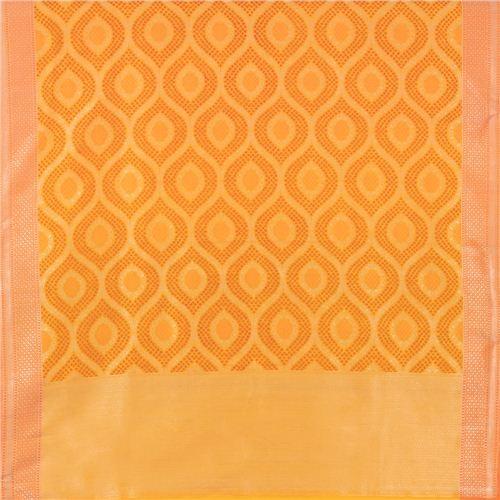 Bandhani Yellow Banarasi Handwoven Silk Dupatta