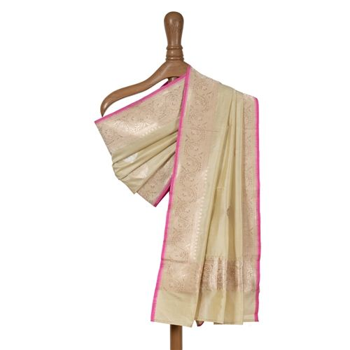 Paan Buta Pistachio Banarasi Handwoven Silk Dupatta