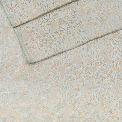 Kharbuja Jaal Powder Blue Satin Silk Fabric