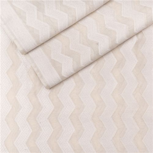Shahteer Silver White Cotton Banarasi Fabric