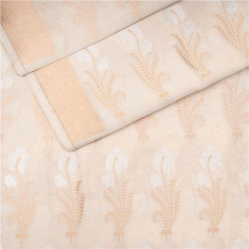 Asiya Cream Silk Fabric