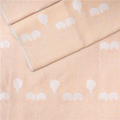 Kali Gulaab Gold White Cotton Banarasi Fabric