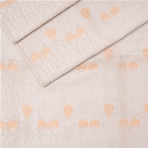 Kali Gulaab Silver White Cotton Banarasi Fabric