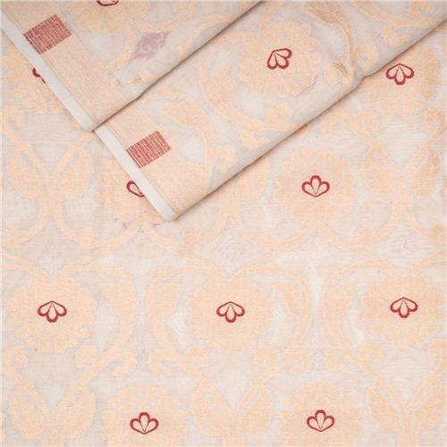 Minadar Ivory White Cotton Banarasi Fabric